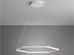 Lampada a sospensione a LED a luce diretta a luce indiretta in acciaio HEXA 1 - Hexa