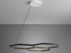 Lampada a sospensione a LED a luce diretta a luce indiretta in acciaio HEXA 3 - Hexa