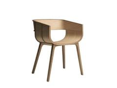 Sedia in legno massello con braccioli MARITIME - Maritime