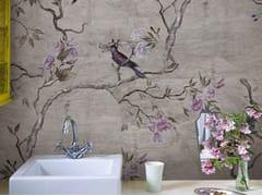 Wall&decò, HANAMACHI Carta da parati con motivi floreali per bagno
