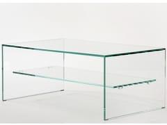 Tavolino basso in vetro temperatoTRANSPARENCE - ZEN 1 - ADENTRO