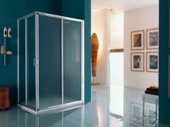 Box doccia a due posti rettangolare con piatto AMERICA | Box doccia a due posti - Dinamica