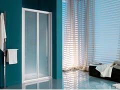 Box doccia a nicchia con piatto con porta a soffietto AMERICA | Box doccia con porta a soffietto - Dinamica