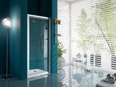 Box doccia a nicchia con porta a battente con piatto AMERICA | Box doccia con porta a battente - Dinamica