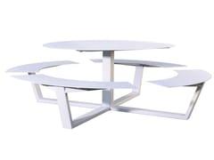 Tavolo da picnic rotondo con panchine integrateLA GRANDE RONDE - CASSECROUTE