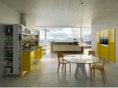 Cucina laccata con maniglie SKYLINE 2.0 | Cucina con isola - ICONE