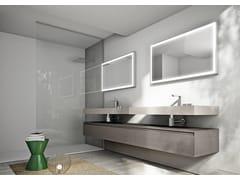 Arredo bagno completo in castagno CUBIK N°04 - Cubik