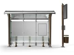Pensilina in acciaio Corten™ per fermata autobusOMNIBUS - METALCO