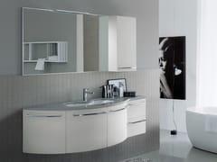 Mobile lavabo laccato in Mineralmarmo® COMP MFE08 - My Fly Evo