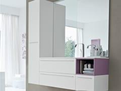 Mobile lavabo con ante con cassetti COMP MFE10 - My Fly Evo