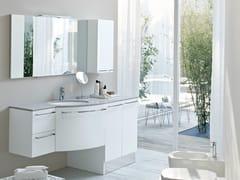Mobile lavabo in ceramica con ante con armadio con cassetti COMP MFE17 - My Fly Evo