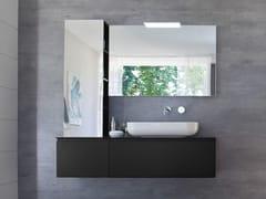 Mobile lavabo laccato con specchio COMP MSP08 - My Seventy Plus
