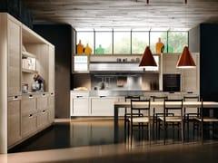 Modulo cucina freestanding lineare con maniglie LUX CLASSIC | Cucina lineare - SISTEMA