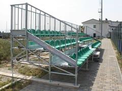 Sistema modulare per palco e tribuna in metallo MARATHON 3 GRADONI -