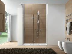 Box doccia a nicchia con porta a battente CLIP CNNI - Clip