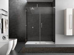 Box doccia rettangolare in acciaio HAND05 - Hand