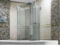 MEGIUS, ICONA ISOLA Box doccia centro stanza in vetro