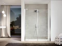 Box doccia in nicchia con porta a doppio battente SLIM SL2P - Slim