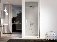 Box doccia a nicchia in vetro con porta a battente SLIM SLNI - Slim