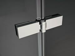 Cerniera per mobili in acciaio cromatoSMART   Cerniera per mobili per ante in cristallo - IDEAGROUP