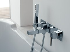 Miscelatore per vasca a muro con doccetta SOQQUADRO   Miscelatore per vasca - Soqquadro