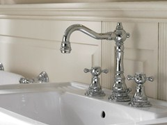 Rubinetto per lavabo in stile classico KENT | Rubinetto per lavabo a 3 fori - Kent