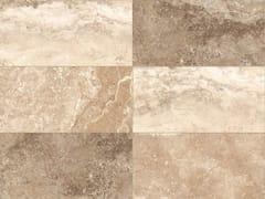 Pavimento/rivestimento in gres porcellanato effetto marmo per interni ed esterniSTONE MIX Travertino Cream - ITALGRANITI