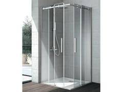Box doccia angolare in cristallo con porta scorrevole FLOW | Box doccia - Cristalli