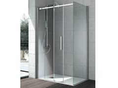 Box doccia angolare in cristallo con porta scorrevole FLOW | Box doccia angolare - Cristalli