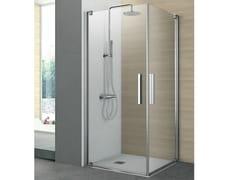 Box doccia ad angolo con due ante pivottanti PIVOT | Box doccia - Cristalli