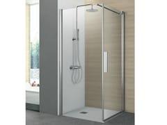 Box doccia angolare con un lato pivottante ed un lato fisso PIVOT | Box doccia angolare - Cristalli