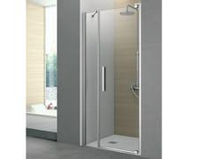 Box doccia con anta pivottante e pannello fisso PIVOT | Box doccia in cristallo - Flow