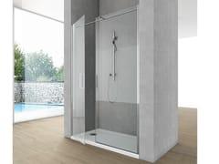 Box doccia a nicchia con porta a battente SIDE 8 - Cristalli