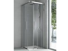 Box doccia angolare con due ante scorrevoli ASTER - Cristalli