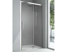 Box doccia a nicchia in cristallo con porta scorrevole ASTER | Box doccia - Cristalli