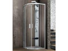 Box doccia angolare curvo con due ante scorrevoli ASTER-T | Box doccia semicircolare - Flow