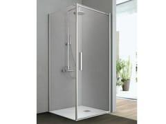 Box doccia con un lato battente e un lato fisso LINE - Cristalli