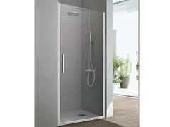 Box doccia con un'anta a battente LINE | Box doccia in cristallo - Cristalli
