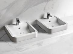 Lavabo da appoggio quadrato in ceramica OPERA | Lavabo quadrato - Opera