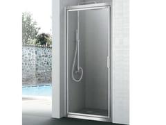 Box doccia con un'anta a battente EASY | Box doccia - Cristalli