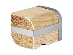 Formani, TWO | Pomello in acciaio inox e legno  Pomello in acciaio inox e legno