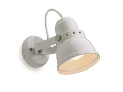 Lampada da parete orientabile in acciaio 182553 -