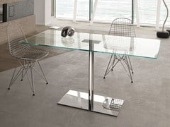 Tavolo rettangolare in vetro temperato FARNIENTE ALTO | Tavolo rettangolare - Farniente