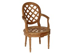 Sedia da giardino in teak con braccioli BOUTON D'OR | Sedia con braccioli - Bouton d'Or