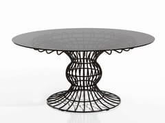Tavolo da giardino da pranzo rotondo in ferro SIRIO   Tavolo da giardino rotondo - Sirio