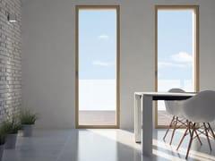 Porta-finestra a battente con doppio vetro in legno SKYLINE DOOR | Porta-finestra - Skyline System