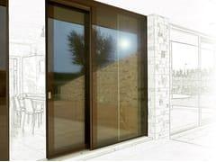 Porta-finestra alzante scorrevole in legno e vetro con triplo vetro VITRUM DOUBLE | Porta-finestra alzante scorrevole - Vitrum System