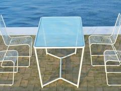 Tavolo da giardino rettangolare in acciaio verniciato a polvere GRID | Tavolo da giardino - Grid