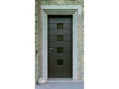 Porta d'ingresso in alluminio e legno per esternoPorta d'ingresso in alluminio e legno - CARMINATI SERRAMENTI