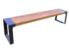 Panchina in acciaio e legno senza schienale MURTON | Panchina - Murton